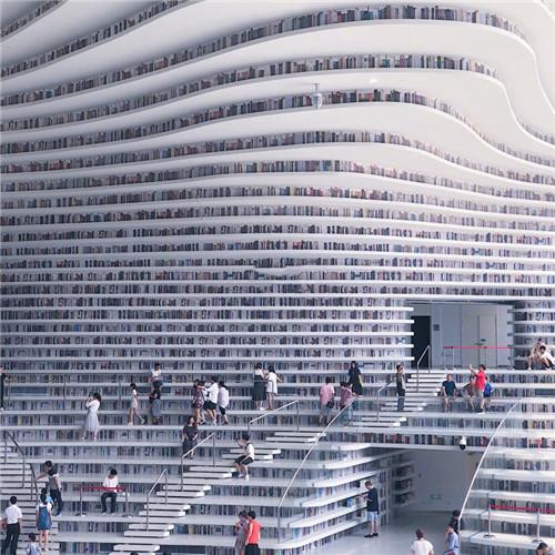 滨海图书馆,冬日的天津灵魂与身体寄托的地方