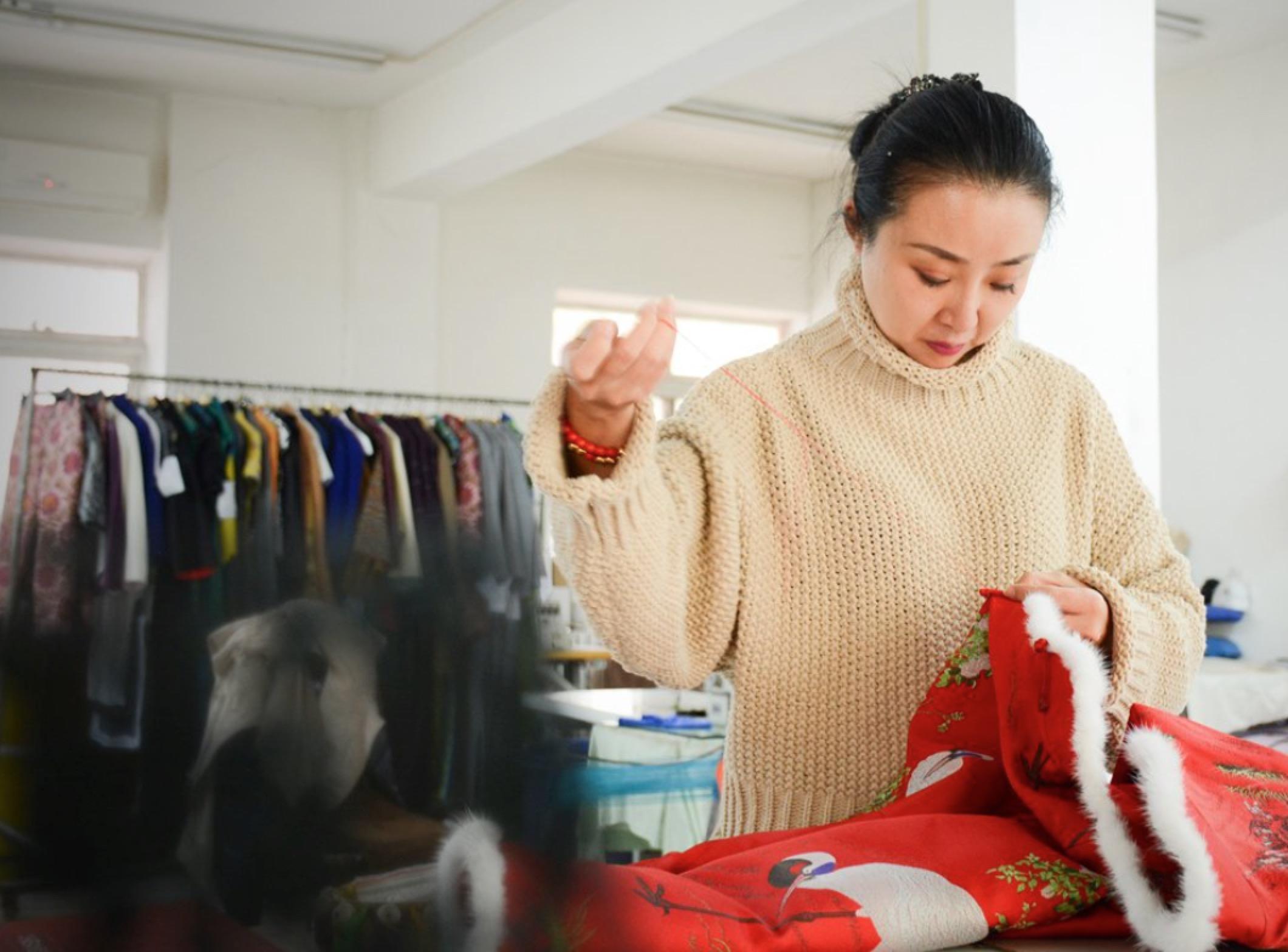 天津美女20年只为一件事,做有味道的旗袍