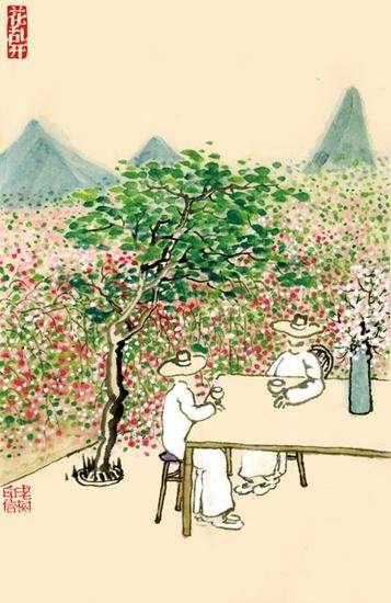 老树画画:伫立千年,取天地精华,得世间智慧