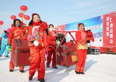 二十家子满族镇第二届冰雪旅游文化节开幕