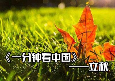 """中国传统文化二十四节气之""""立秋""""#一分钟看中国"""