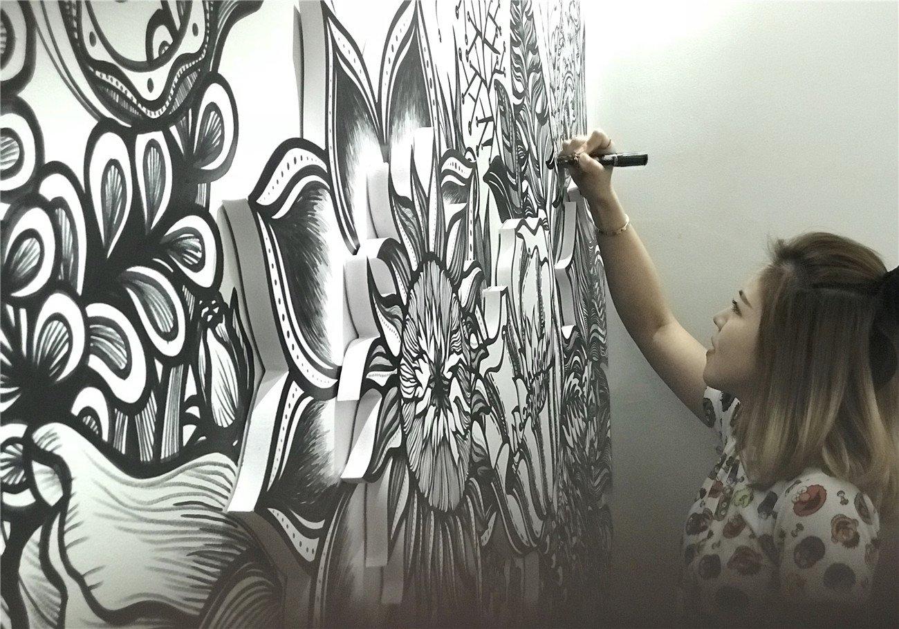 """津城""""斜杠青年"""":创造幸福感的墙绘"""