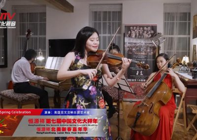 美国亚文交响乐团指挥房飞带领青年艺术家在纽约奏响《新春乐》